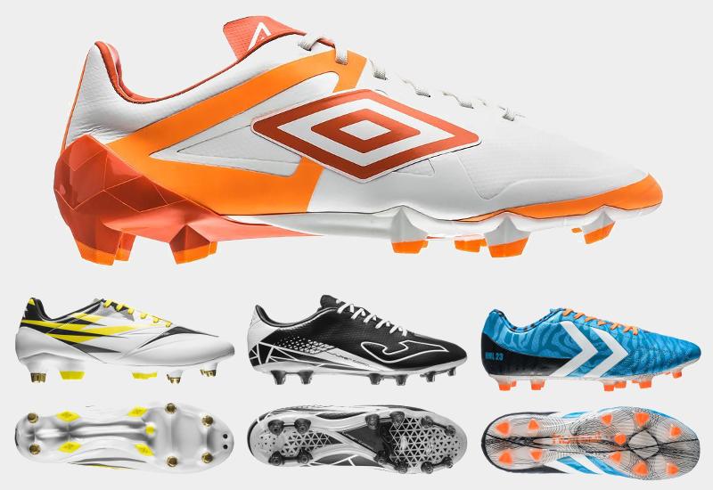 Diverse fodboldstøvler stor