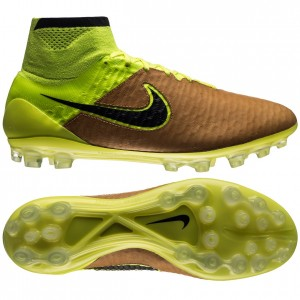 Nike Magista Obra Skind Tech Craft AG Sand-Sort-Neon