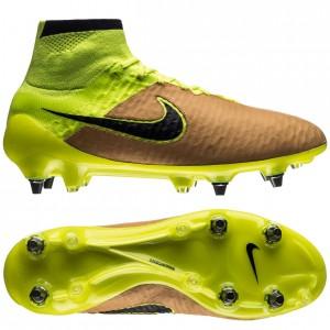 Nike Magista Obra Skind Tech Craft SG-PRO Sand-Sort-Neon fodboldstøvler