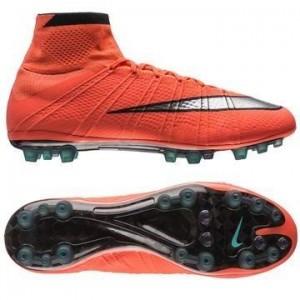 Nike Mercurial Superfly AG Orange-Sølv-Sort fodboldstøvler