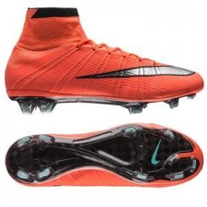 Nike Mercurial Superfly FG Orange-Sølv-Sort fodboldstøvler