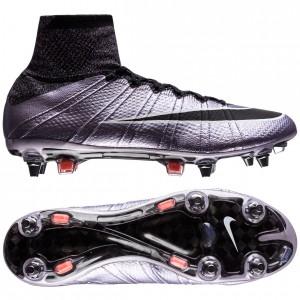 Nike Mercurial Superfly SG-PRO Lilla-Sort fodboldstøvler