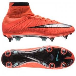 Nike Mercurial Superfly SG-PRO Orange-Sølv-Sort fodboldstøvler