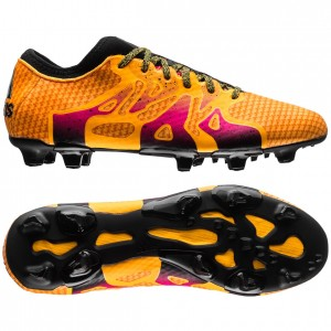 adidas X 15+ Primeknit FG-AG Gul-Orange-Pink fodboldstøvler