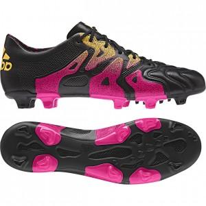 adidas X 15.1 Skind FG-AG Sort-Pink-Gul