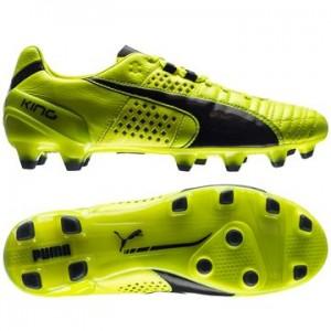 Puma King II FG Gul-Sort fodboldstøvler