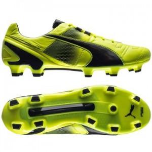 Puma King II SL FG Gul-Sort fodboldstøvler