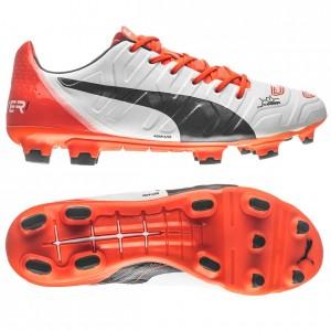 Puma evoPOWER 1.2 FG Hvid-Navy-Orange fodboldstøvler