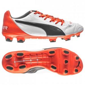Puma evoPOWER 1.2 FG Hvid-Navy-Orange skind fodboldstøvler
