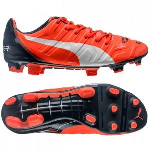 Puma evoPOWER 1.2 FG Orange-Hvid-Navy fodboldstøvler