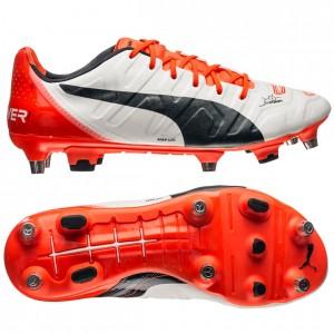 Puma evoPOWER 1.2 SG Hvid-Navy-Orange fodboldstøvler