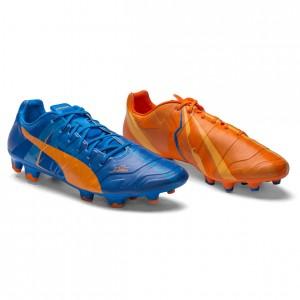 Puma evoPOWER 1.2 Tricks H2H FG Orange-Blå fodboldstøvler
