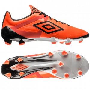 Umbro Velocita Pro HG Orange-Sort-Hvid fodboldstøvler