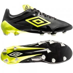 Umbro Velocita Pro HG Sort-Gul-Hvid fodboldstøvler