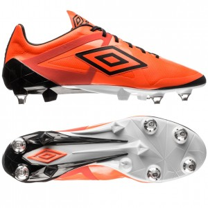 Umbro Velocita Pro SG Orange-Sort-Hvid fodboldstøvler