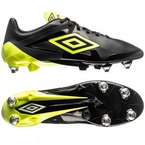 Umbro Velocita Pro SG Sort-Gul-Hvid fodboldstøvler
