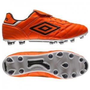 Umbro Speciali Eternal Pro HG Orange-Sort-Hvid fodboldstøvler