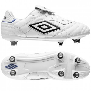 Umbro Speciali Eternal Pro SG Hvid-Sort-Blå fodboldstøvler