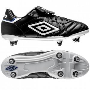 Umbro Speciali Eternal Pro SG Sort-Hvid-Blå fodboldstøvler