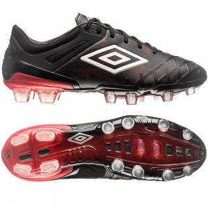 Umbro UX 2.0 Pro HG Sort-Rød fodboldstøvler
