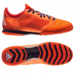 Adidas X 15.1 Court IN Orange-Sort indendørs fodboldsko