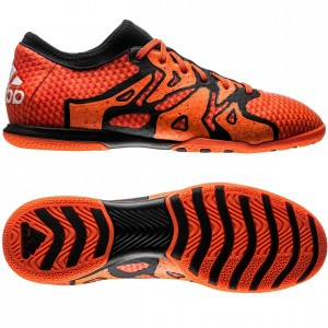 Adidas X 15.1 Primeknit Court IN Orange-Sort indendørs fodboldsko